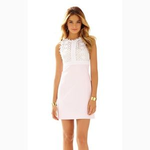 Lilly Pulitzer Dresses - LILLY PULITZER BREAKERS LACE TOP SHIFT DRESS